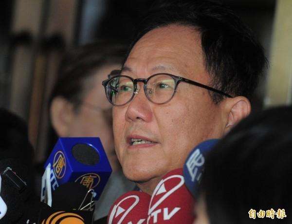 國民黨台北市長候選人丁守中經過聲請驗票後,提起選舉無效訴訟,24日首度開庭。(記者王藝菘攝)