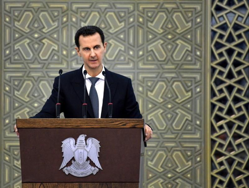 敘利亞總統阿塞德罕見地公開向土耳其總統艾多根開砲。(歐新社)