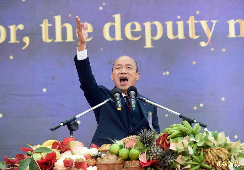 韓國瑜在專訪中談到就職百日,自述「我現在發現到4個e的嚴重性,偏偏沒有一點我可以做的,我統統力量不夠。」(資料照)
