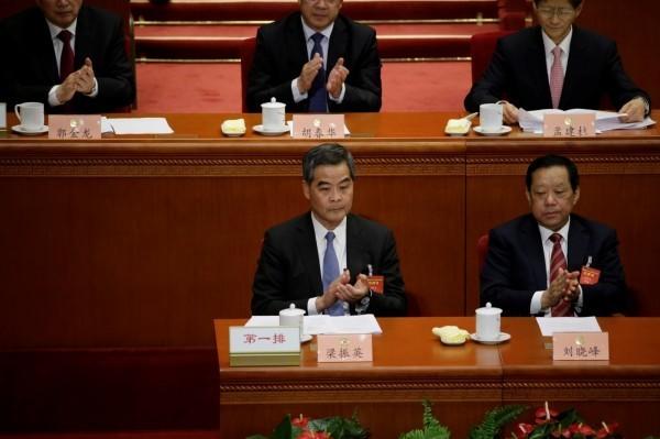 香港前特首梁振英砲轟捍衛港獨言論的香港理工大學生是「新砲灰」。(路透)