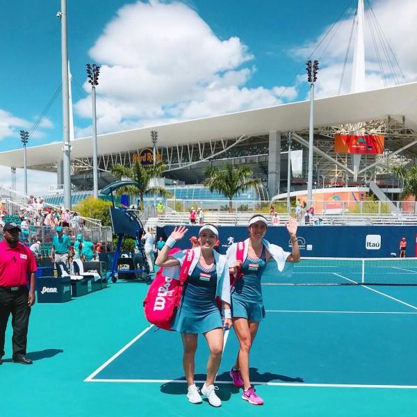 網球》詹家姊妹超級搶十險勝 合拍首晉邁阿密女雙4強