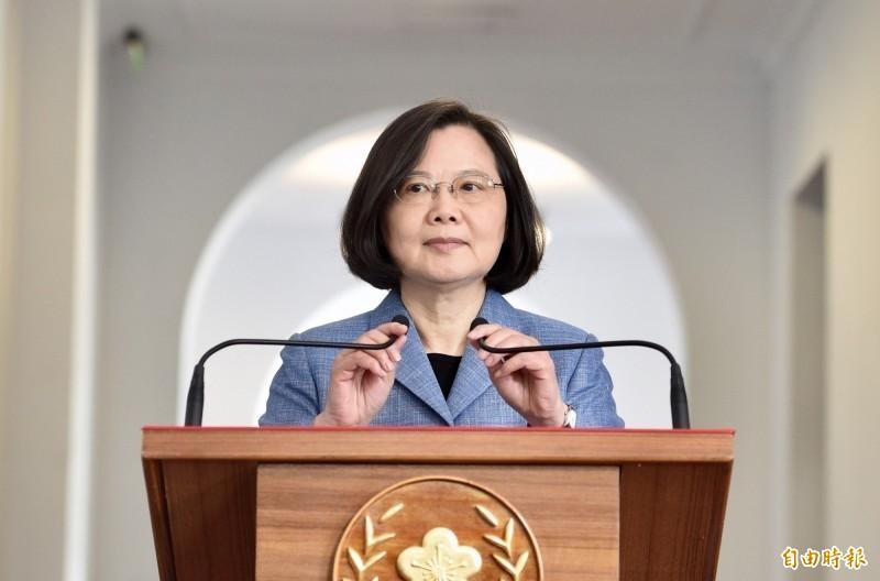 蔡英文總統今晚表示,「我們的青春,在台灣」在昨天正式上映了,台灣擁有言論自由,我們不會因為電影高度政治就禁播。(資料照)