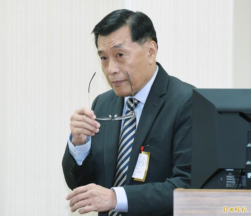 國安局近期送立法院的報告指出,中國為影響我明年大選民意走向,將加大輿論戰、心理戰和法律戰等「三戰」力度。圖為國安局長彭勝竹。(資料照)