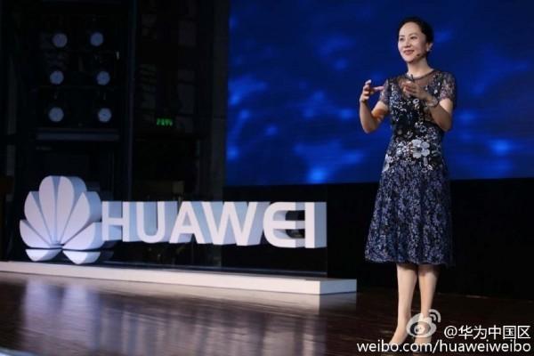 遭加拿大逮捕的華為公司副董事長孟晚舟。(圖取自華為中國微博網頁weibo.com/huaweiweibo)