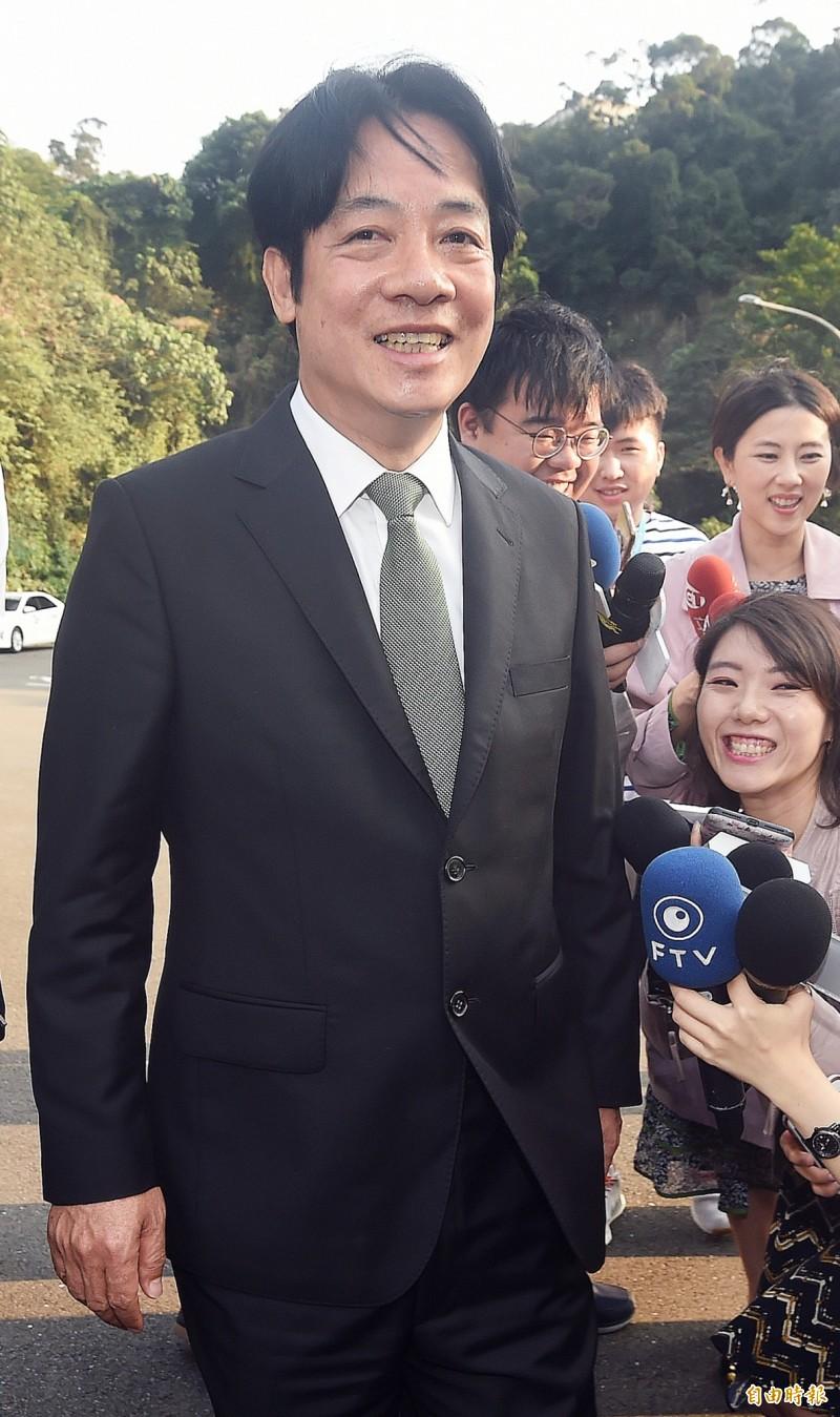前行政院長賴清德在日前宣布投入民進黨總統初選。(資料照,記者廖振輝攝)