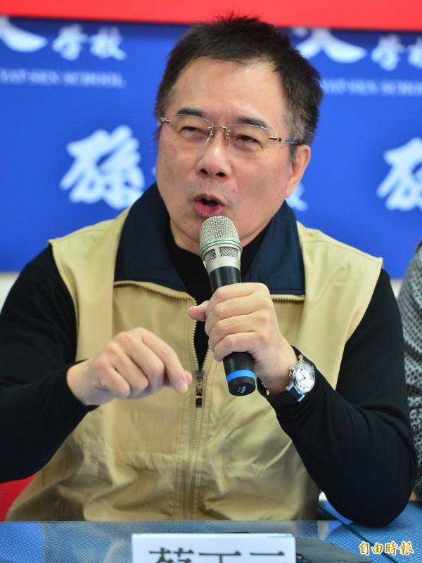 國民黨前立委蔡正元針對台北市長選情,坦言「丁守中選上的機會很低」。(資料照)