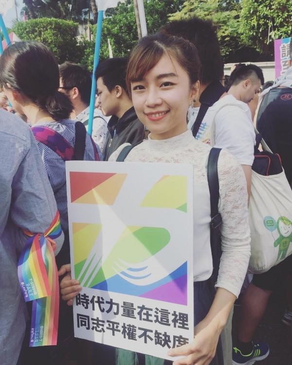時代力量新科台北市議員林穎孟由於外形亮眼,曾在選前被YouTuber蔡阿嘎盤點為10大正妹議員候選人。(圖擷取自林穎孟IG)