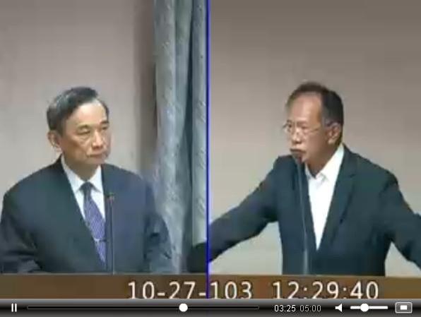 國民黨立委陳超明(右) 說:「我不是反賄選,我非常支持賄選!」(圖擷自立法院議會轉播)