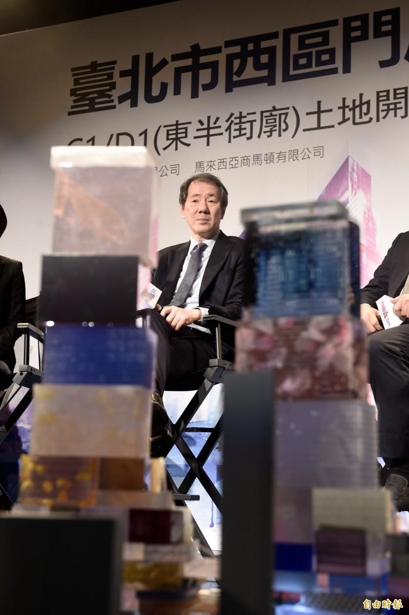 台北巿雙子星大樓案,香港商南海、馬來西亞商馬頓公司抗告今天被駁回確定。圖為南海董事會主席于品海。(資料照)