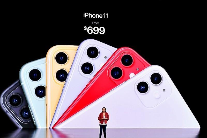 蘋果(Apple)在加州總部舉辦新品發表會,推出三款新手機iPhone 11、11 Pro及11 Pro Max。(法新社)