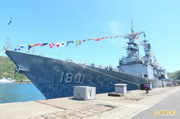海軍基隆級DDG-1801基隆艦。(資料照,記者王藝菘攝)