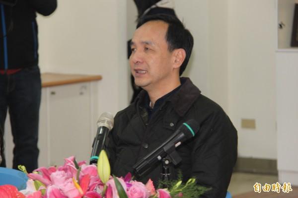新北市長朱立倫捐出100萬元救助南台地震。(資料照,記者林欣漢攝)
