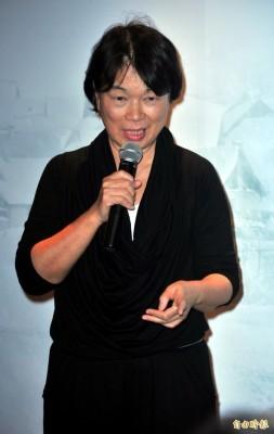 文化部前部長龍應台對媒體訴說自己當時處理白色恐怖文件的心路歷程。(資料照,記者陳奕全攝)