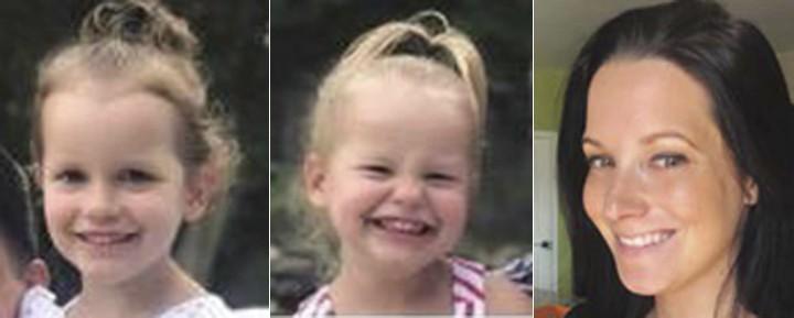 瓦茲狠心殺害孕妻莎娜(Shanann Watts)、4歲女兒貝拉(Bella,左)、3歲女兒西萊斯特(Celeste,中)。(美聯社)