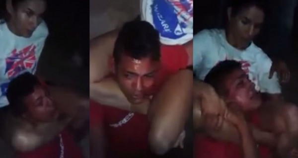 巴西1名男子搶劫選錯人,挑到1名柔道兼混合格鬥好手,被反過來制伏在地,不斷高聲哭喊。(圖截自YouTube)