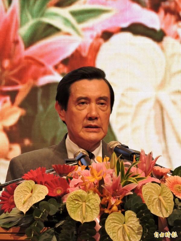 據權威消息管道證實,馬英九總統本週六上午將啟程前往新加坡,與在新加坡進行國是訪問的中共總書記、中國國家主席習近平「不期而遇」。圖為總統馬英九出席「金點獎」頒獎典禮。(資料照,記者何玉華攝)
