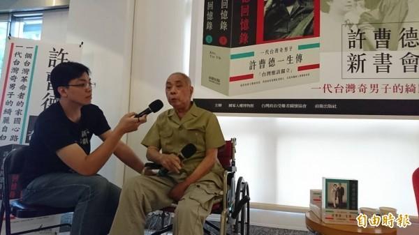 台灣獨立運動政治犯許曹德昨天過世。(資料照)