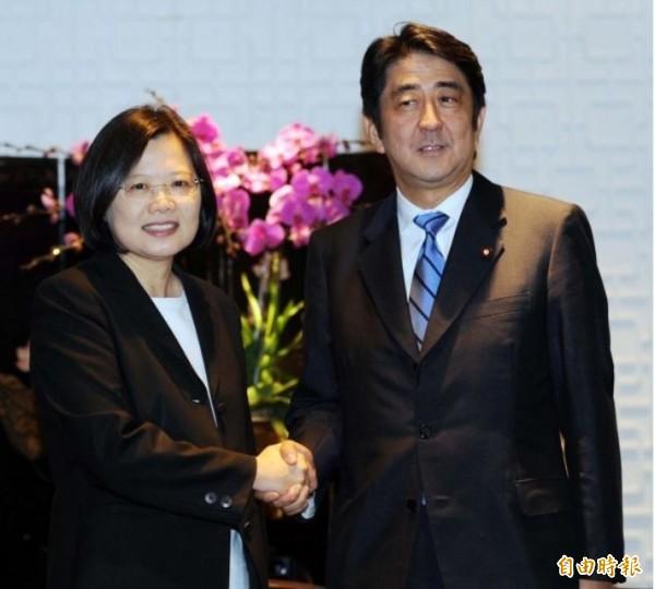 蔡英文2011年曾與日本首相安倍晉三會面。(資料照)