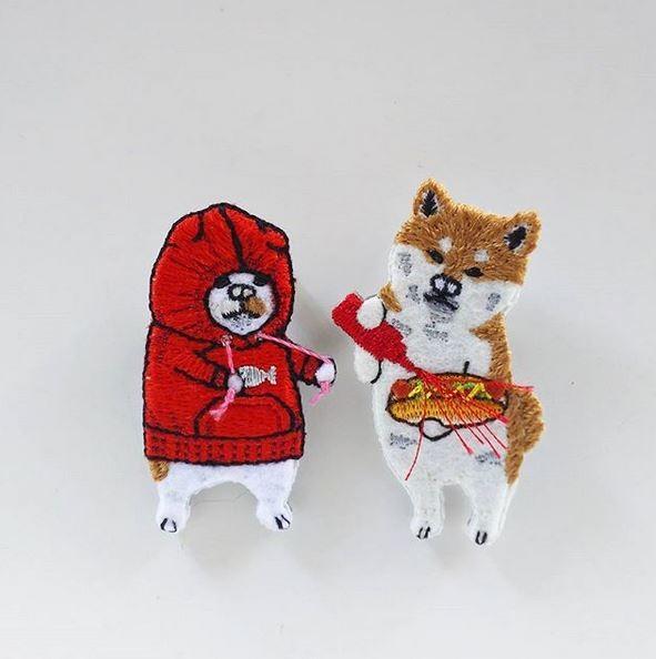 這一系列的搞笑動物刺繡在網路上爆紅,不管這些動物究竟都嗑了什麼,快都給我來一點啊!(圖片由pokefasu授權提供使用)