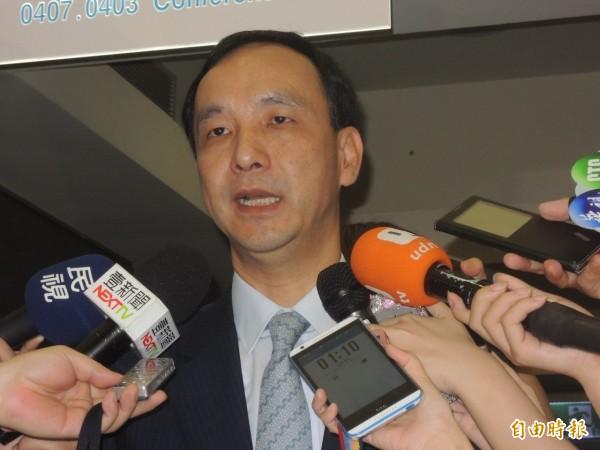 國民黨黨主席朱立倫曾強調不會參選2016總統。(資料照,記者賴筱桐攝)