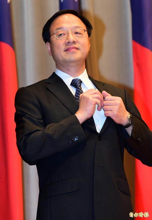 前行政院長江宜樺獲聘為新任總統府資政。(記者羅沛德攝)