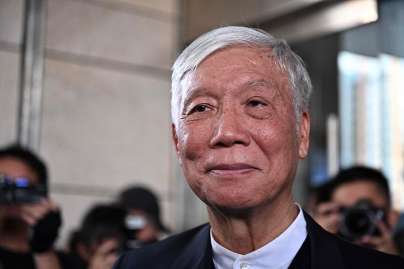 香港佔領中環九子案,法院宣判9位被告全部罪名成立。今(9)日代表戴耀廷、陳建民表示,願意為信念付出代價,唯一請求是不要判健康狀況堪慮的朱耀明入獄。圖為香港浸信會牧師朱耀明。(法新社)