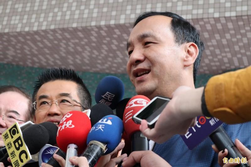 前新北市長朱立倫發316立委補選敗選檢討文。(資料照)