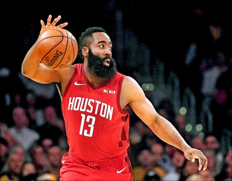 NBA火箭隊引發中國網友抵制潮。圖為火箭隊球星哈登。(路透)
