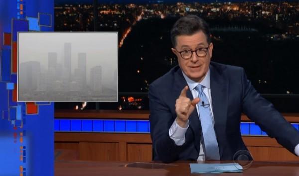 知名脫口秀節目主持人荷伯直言,中國當局應該淨化的不是社會,而是空氣污染。(圖擷取自YouTube)