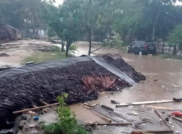 印尼海嘯多死傷,國防部運輸機待命救援。(歐新社)