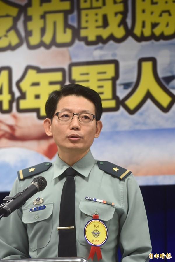 國防部軍事發言人羅紹和2日表示,國民黨榮譽主席連戰在中國的抗戰勝利言論悖離史實。(記者簡榮豐攝)