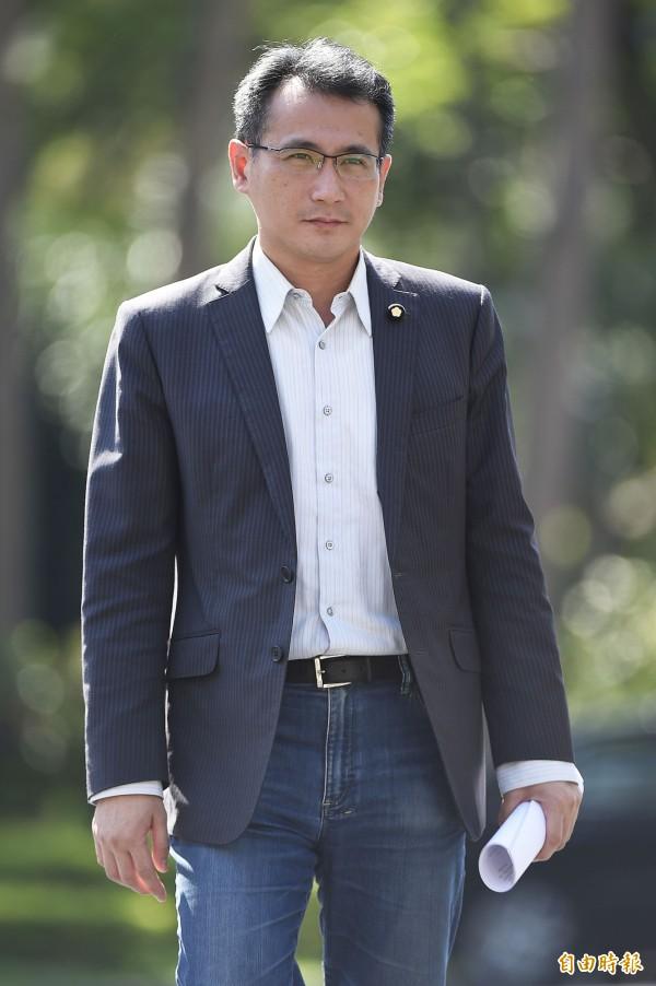 民進黨立委鄭運鵬將回鍋擔任民進黨發言人。(資料照,記者陳志曲攝)