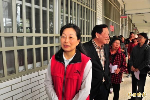 國民黨徐榛蔚成為花蓮第一位女縣長。(記者花孟璟攝)