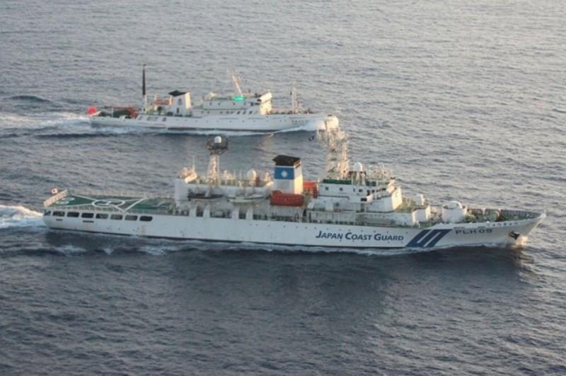 中國海調船現身釣魚台海域 日本抗議