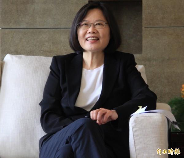 民進黨總統參選人蔡英文。(資料照,記者盧賢秀攝)