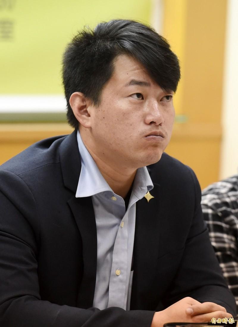 台灣基進黨發言人陳柏惟聲援反送中運動。(資料照)