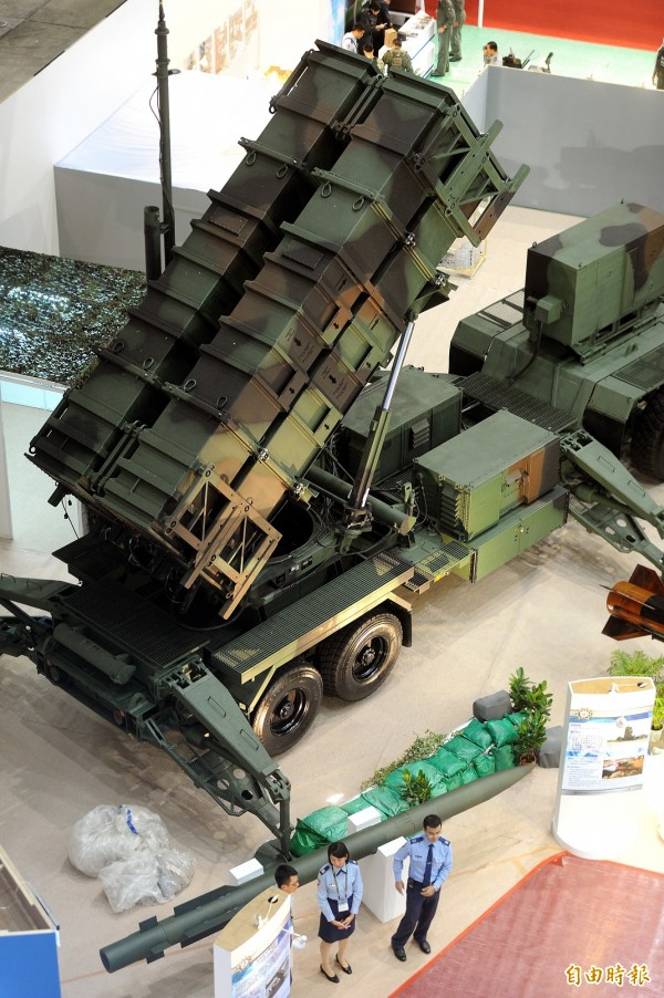 圖為 「2013年台北國際航太暨國防工業展展示愛國者飛彈系統。(資料照,記者方賓照攝)