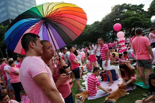 新加坡的同志遊行「粉紅點」將於7月1日舉行。(路透)