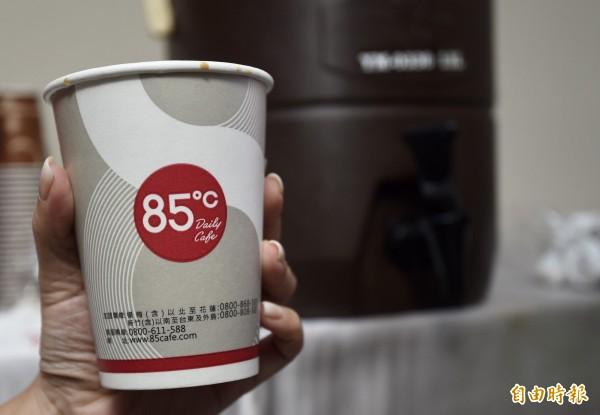 台灣美食達人公司所註冊的「85度C」商標,自2003年創立至今已被長期宣傳和使用。(資料照)