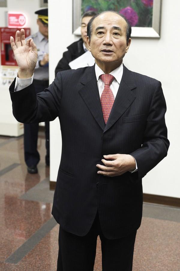 前立法院長王金平堅持三七制,盼尊重黨員權利(資料照)