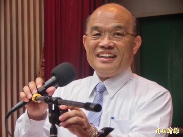 傳蔡總統表示未提蘇貞昌(圖)組閣,是取得雙方默契。(資料照)