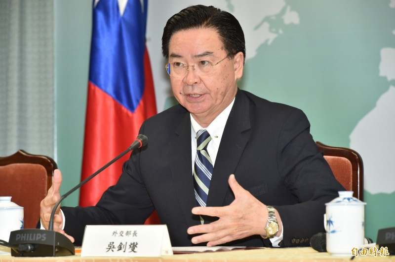 外交部長吳釗燮今(20日)舉行記者會宣布,我國即日起與吉里巴斯斷交。(記者塗建榮攝)