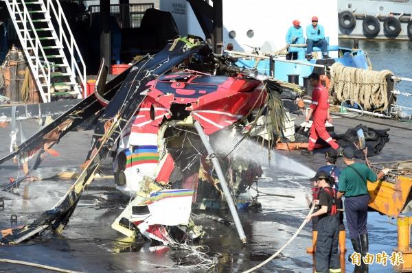 護理師蔡邑敏在去年2月執行蘭嶼病患後送任務時,她所搭乘的黑鷹直升機在中途失事。(資料照)