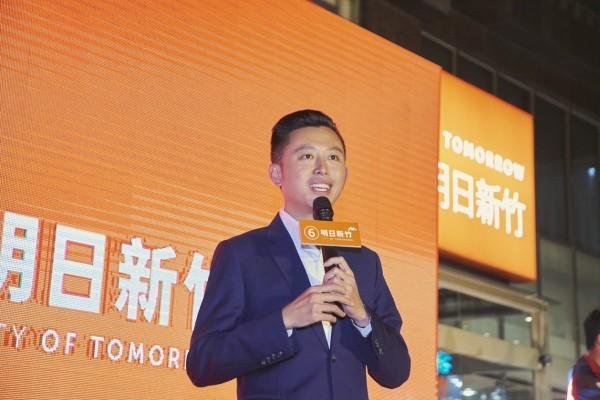 新竹市長林智堅49.57%的得票率幾乎過半,拿到10萬7612票。(林智堅競總提供)