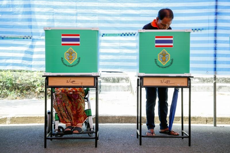 泰國今(24)日舉行2014年軍方政變後首場國會大選。(歐新社)