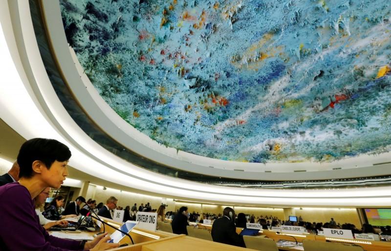 陳淑莊質問,為甚麼中國仍能以成員國的身分,安坐在人權理事會?(路透)
