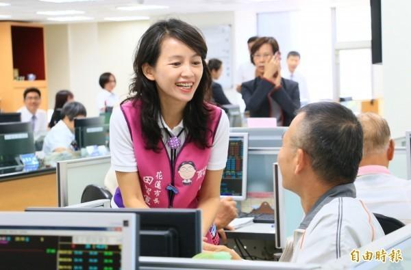 民進黨日前宣布徵召張美慧參選花蓮市長。(資料照,記者王錦義攝)