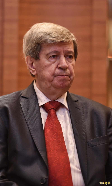 歐洲議會人民黨團議員庫侃(Eduard Kukan)。(記者劉信德攝)
