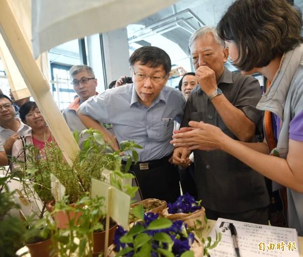 柯文哲說,吳音寧拒絕去台北市議會備詢,連農委會主委林聰賢都認為吳應該接受備詢,就看她怎麼處理。(記者方賓照攝)