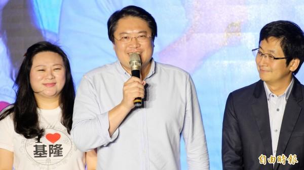 林右昌以基隆市長選舉史上最高票的10萬2167票,順利連任。(資料照)